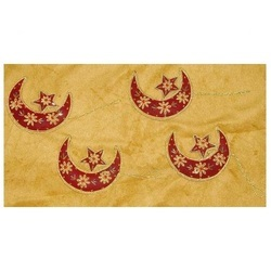 Moon Red Zari Embroidery Christmas Hanging, Packaging Type: Box, Standard Size