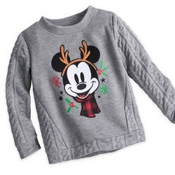 Woolen Grey Kids Printed Sweater