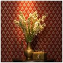 Flower Pot Non-woven Nilaya Sabyasachi Wallpapers, Size: 57 Sqft