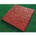 Circle Design Tiles Red Circle Design Interlocking Paver, Size: 400x400 Mm, 50 Mm