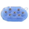 360 degree spin 7 Pc Steel Ball Roller Body Massager
