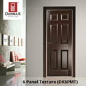 DK-6PMT 6 Panel Texture Moulded Wooden Door