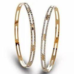Real Diamonds Round Diamond Bangles, Weight: 27.00