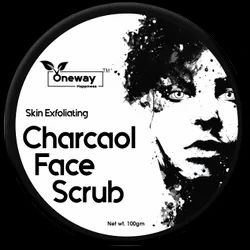 Oneway Happiness Charcoal Face Scrub, Packaging Size: 100 G