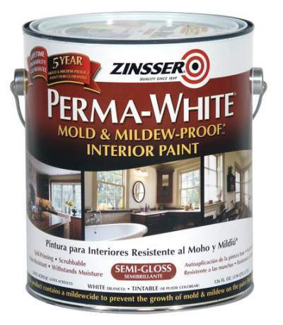 Industrial Coatings - Zinsser Perma-White Mold and Mildew-Proof
