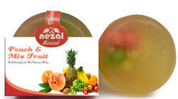 Round Peach And Mix Fruit Handmade  Soap