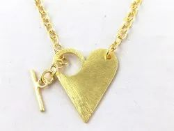 Gold Plated Heart Shape Toggle Clasps
