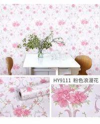 花盆乙烯基墙纸自粘合剂为家庭,大小:45 x 500厘米