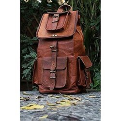 Vintage Leather Shoulder Backpack