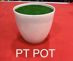 Round Shape Plastic Flower Pot with Grass, for Home