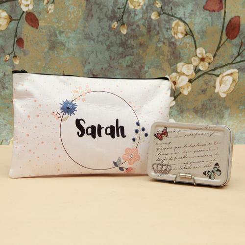 Personalized Makeup Pouch And Utility