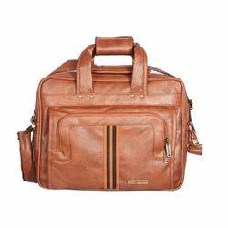 Brown Plain Laptop Bag