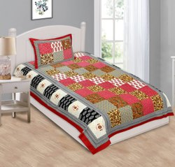 Printed Cotton Single Bed Sheet