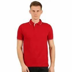Mens Polo Neck Red T Shirts