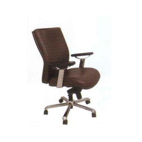 Brown Commercial Office Chair With Arm Rest