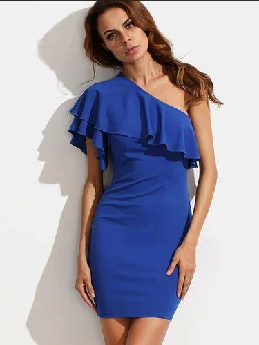 926c641cdd89 Royal Blue Off Shoulder Dress, Ladies Dresses - Nine Box Retail ...