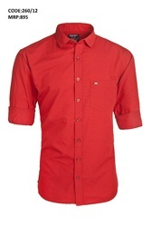 Cherry Red Party Wear Casual Shirt