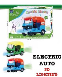 indoor Musical Electric Tricycle Auto Rickshaw Toy