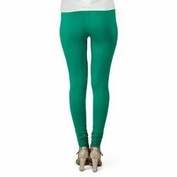 Straight Fit Plain Churidar Leggings, Size: Free Size