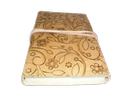 Flower Embossed Handmade Leather Diary