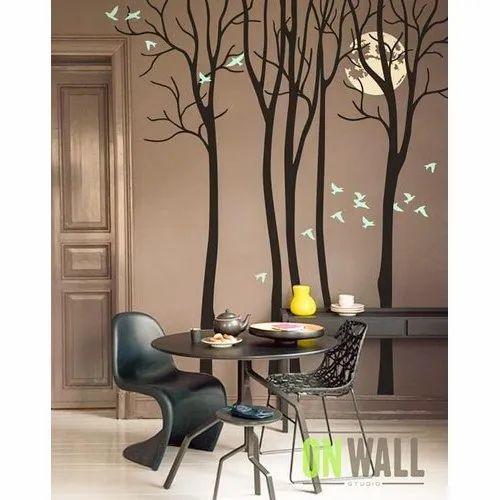 Pvc Wall Decals Modern Living Room Tree Wall Sticker Rs 380 Square Feet Id 21136832648