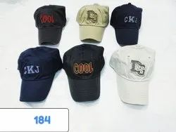 Cotton Caps With Embroidery, Code 184