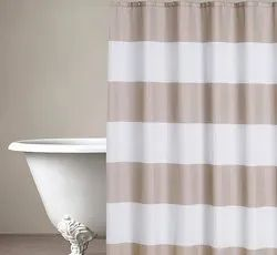 71 x 71 Inch Basic Dark Beige Shower Curtain