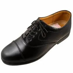 Black Mens Semi Formal Shoes, Size: 39-45, Packaging Type: Box