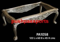 Carved Silver Center Table