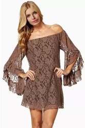 Lace Off Shoulder Womens Top