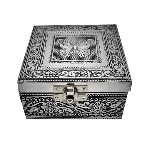 Butterfly Design Trinket Jewelry Box - Small Craft Box - Metal Gift Box - Handicraft Gift Box