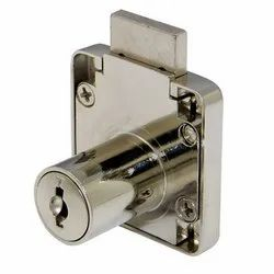 Stainless Steel Drawer Lock, Polished, 65 mm