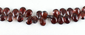 Red Colour Garnet Faceted Pears Stone Beads