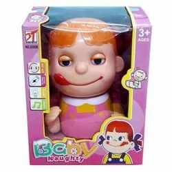 Pink Baby Naughty Toy, Packaging Type: Box