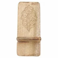 Bracket Holder Type White Wooden Mobile Stand - 02, Size: Small