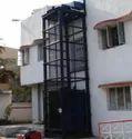 Blue Mild Steel Loading Lift, For Warehouses, Capacity: 2 Ton