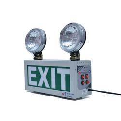Emergency Light With Night Glow Signage Double Beams