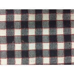 Black And White Cotton Checks Fabric