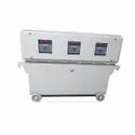 98% Iron Three Phase Variac Type Servo Stabilizer - Oil Cooled, 10 Kva -400 Kva, 100 Kva