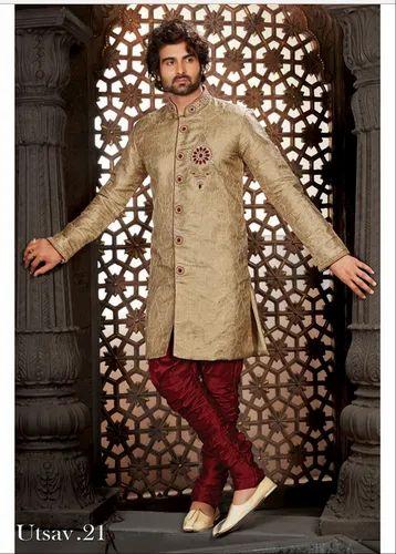 Men S Wear Sherwani Designer Mens Wedding Sherwani Utsav 21 Ecommerce Shop Online Business From Mumbai