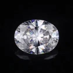 White Oval AAA Quality Excellent Cut Lab Grown Diamond, Packaging Type: Paper Packet