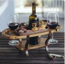 Wood Wine Bottle Caddy