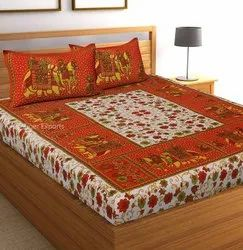 Jaipuri Cotton Bed Sheet for Home