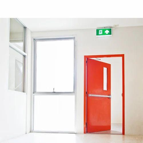 Acodor Metal Fire Proof Door With Panic Bar Emergency
