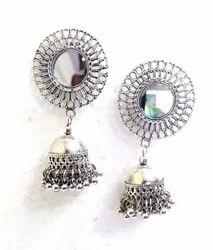 Mirror Jhumka Earring.