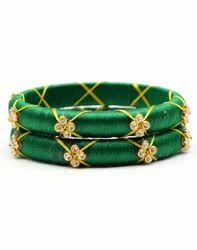 Green Silk Thread Bangle