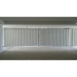Sliding Stainless Steel Shutter Gate With Collapsible - Horizontal Shutter, For Offices