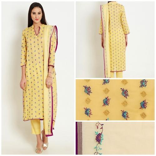 2652ca2f19 Dress Material Bridal wear Cotton Lawn Embroidered Suit, Packaging Type: Box
