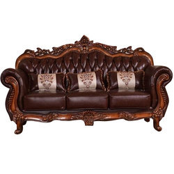 Lovely Antique Teak Wood Sofa Set
