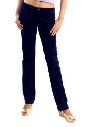 Blue Plain MNG Ladies Trousers Pant